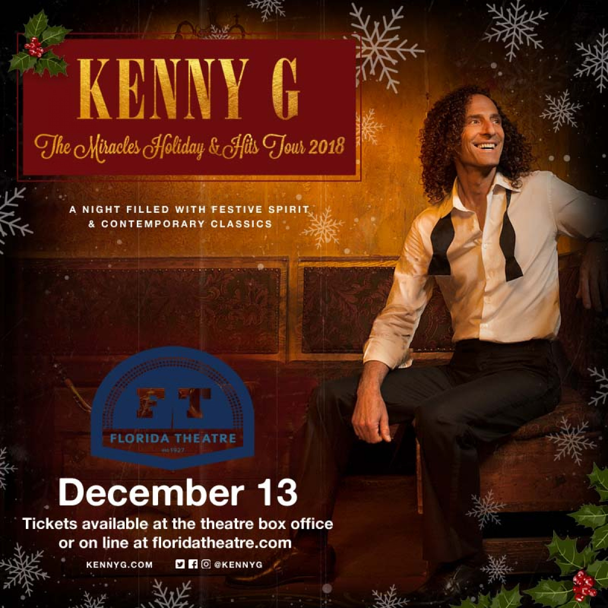Win Tickets To Kenny G | 96.1 WEJZ